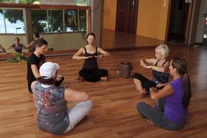 group of women in a nia exercise class